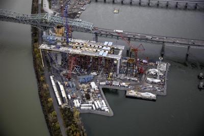 Survol des travaux du Pont Champlain